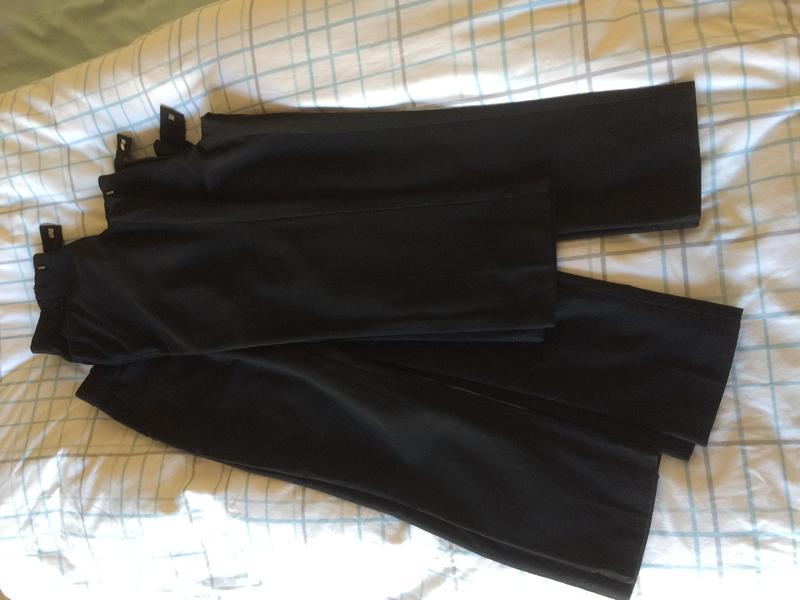 Skinny leg black school trousers