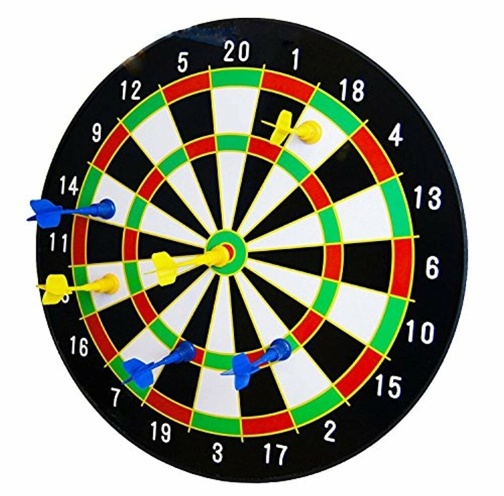 """The Magic Toy Shop 16"""" Magnetic Dart Board Dartboard with 6"""