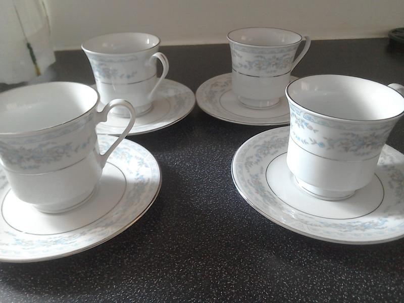 Cups and saucers by Crown Ming