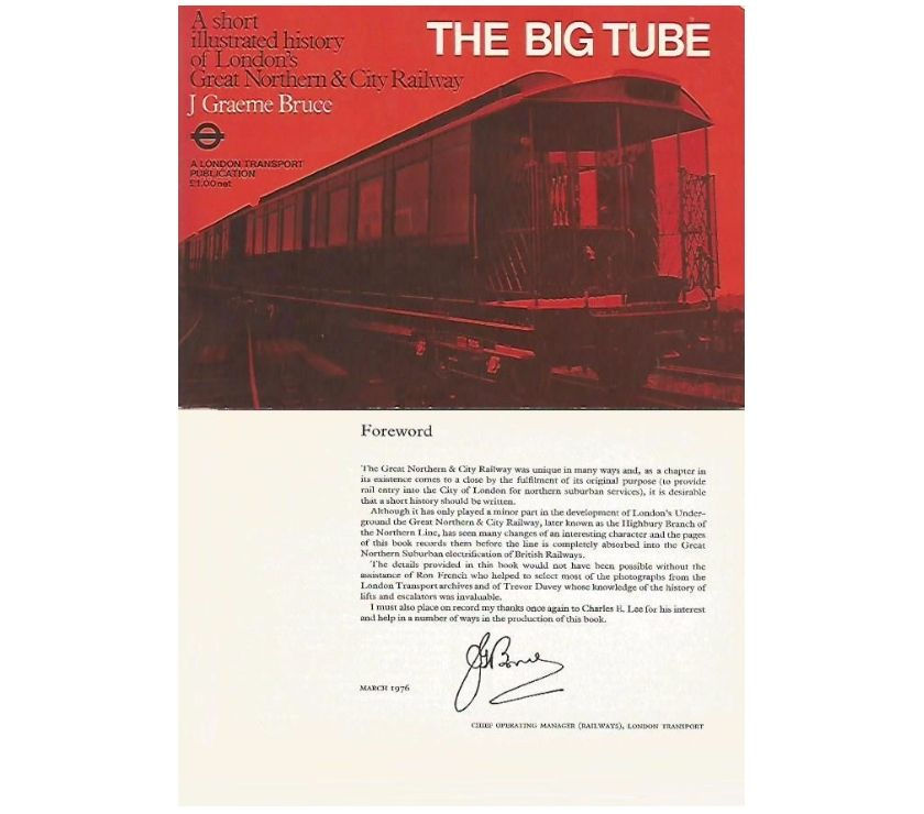 LONDON TRANSPORT BOOK - THE BIG TUBE