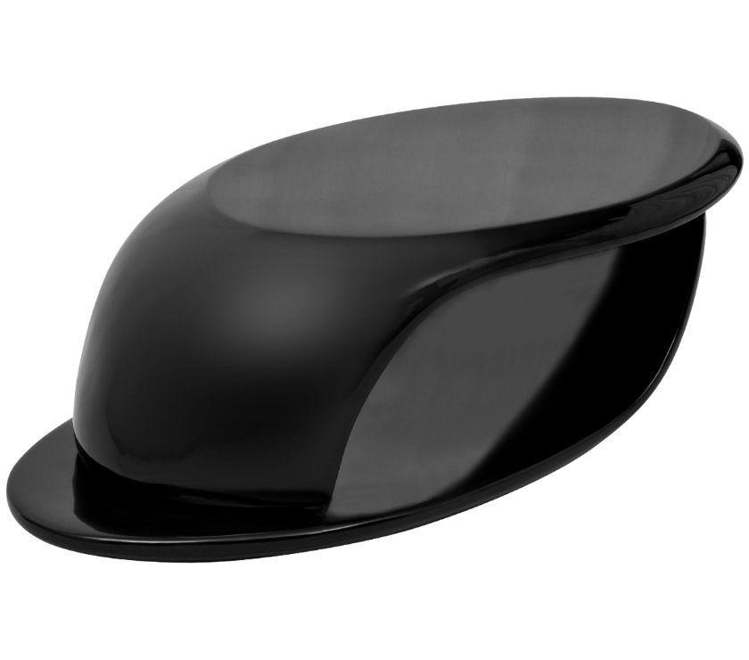 vidaXL Coffee Table Fibreglass High Gloss Black  New