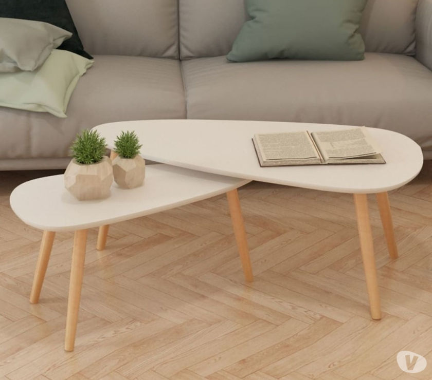 vidaXL Coffee Table Set 2 Pieces Solid Pinewood  New