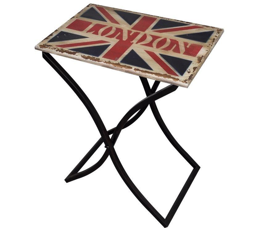 vidaXL Shabby Chic Coffee Table Union Jack Design  New