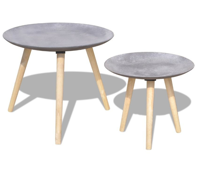 vidaXL Two Piece Side TableCoffee Table Set  New