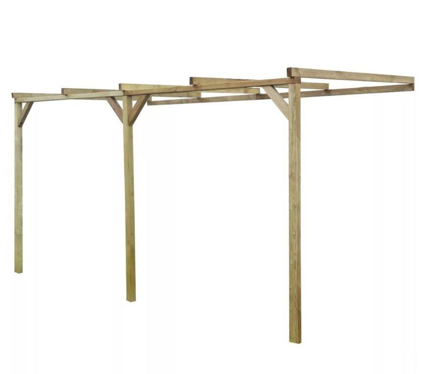 vidaXL Wooden Lean-To Pergola 2 x 4 x 2.2 m  New