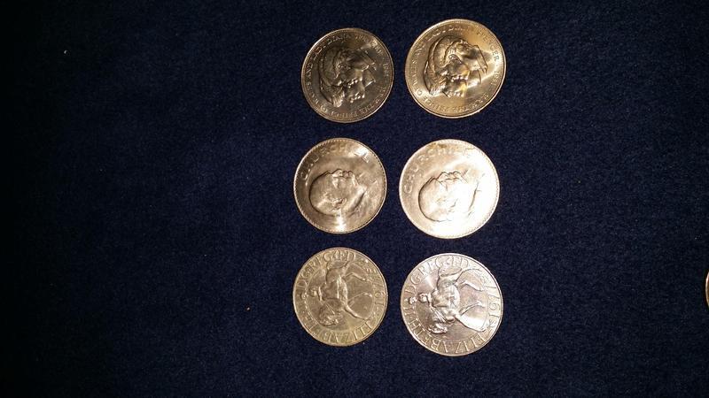 BRITISH COMMEMORATIVE COINS - Set of 6