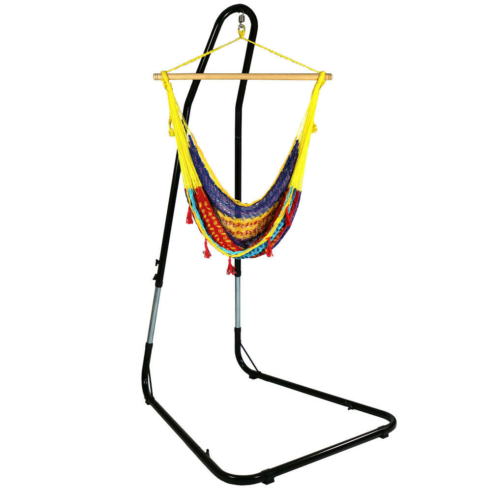 Sunnydaze Extra Large Multicolor Mayan Hammock Chair with