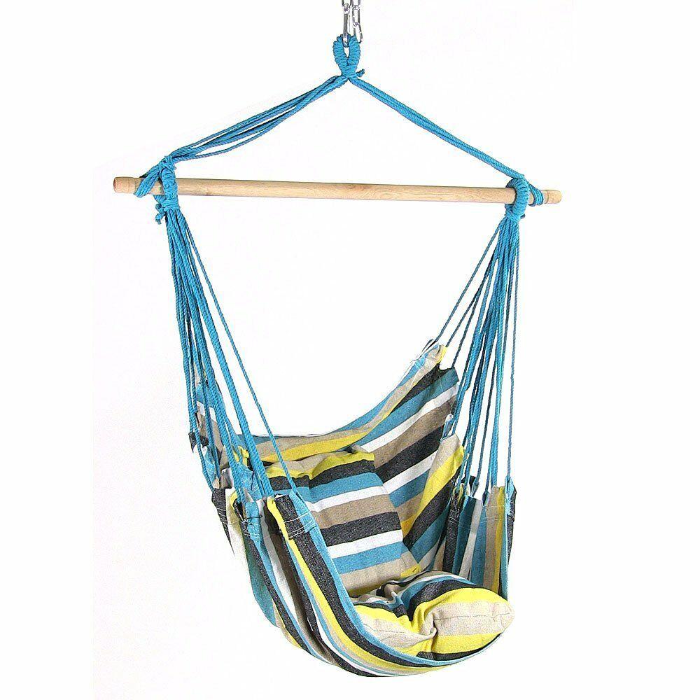 Sunnydaze Indoor-Outdoor Hanging Hammock Chair Swing and 2