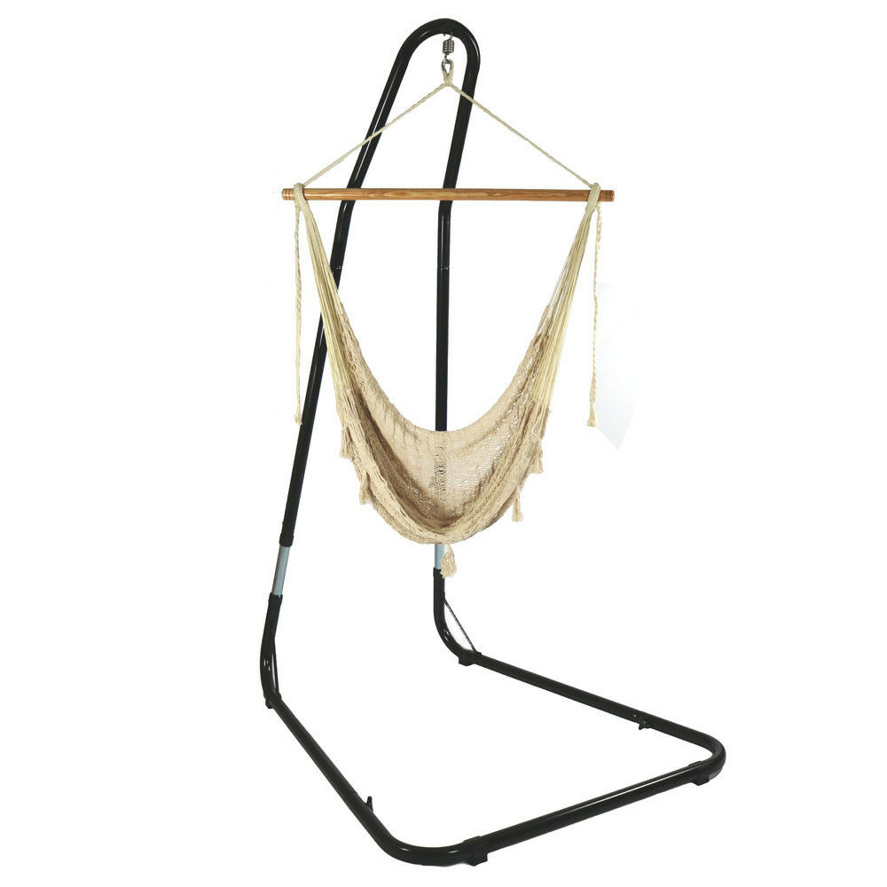 Sunnydaze Large Natural-Color Mayan Hammock Chair with