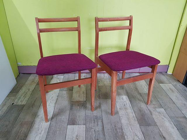SALE NOW ON - Pair of Beech Kitchen / Dining Chairs - Local