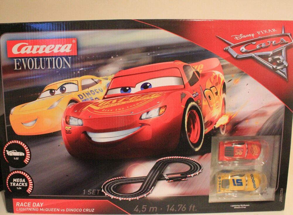 BNIB Disney Pixar  Carrera Evolution 1:32 Raceday