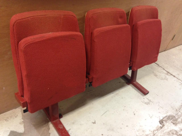 Cinema Seats - Row of 3 - freestanding - ready to use - in