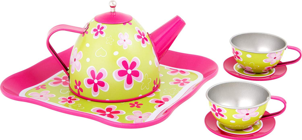 Small Foot  Tea Set for Children with Girlish Flower