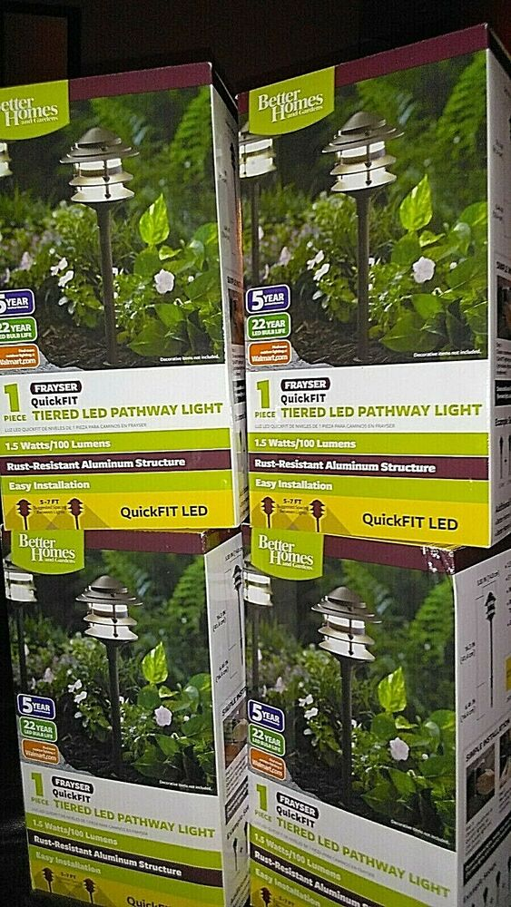 "Better Homes Gardens SET OF 4 Tiered ""Frayser"" QuickFIT LED"
