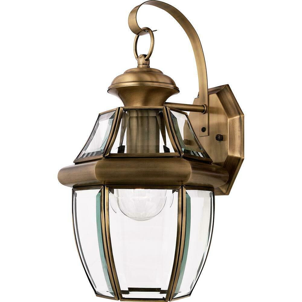 "Quoizel NYA Antique Brass Newbury 1-Light 14""T Outdoor"