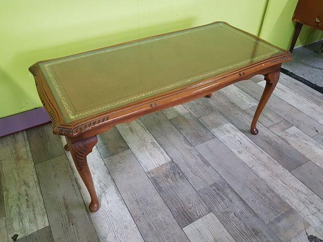 SALE NOW ON - Glass Topped Antique Style Coffee Table