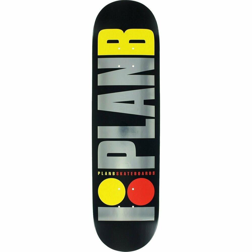 """Plan B Skateboards TEAM OG BLACK ICE Skateboard Deck 8.0"""""""
