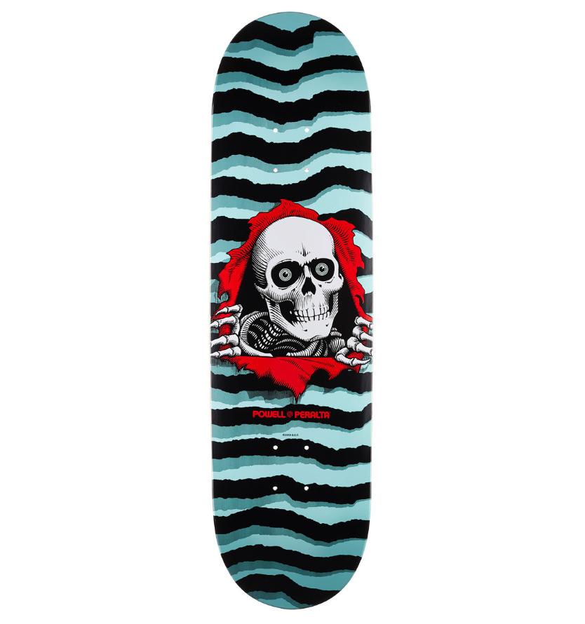 "Powell Peralta Ripper Pastel Blue 8.5"" Skateboard Deck"