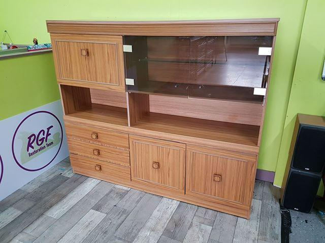 SALE NOW ON - 70% OFF - Wood Effect Display Cabinet With