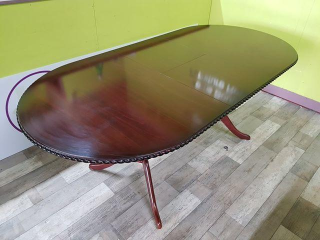 SALE NOW ON - Dark Wood Extendable Dining Table - Local
