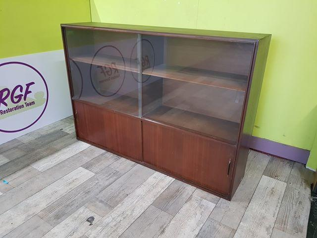 SALE NOW ON -Multiwidth Dark Wood Display Cabinet With Glass