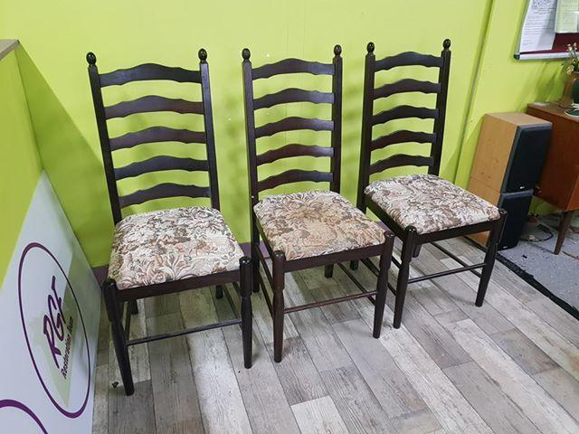 SALE NOW ON - Set of 3 ladder Back Dining Chairs-