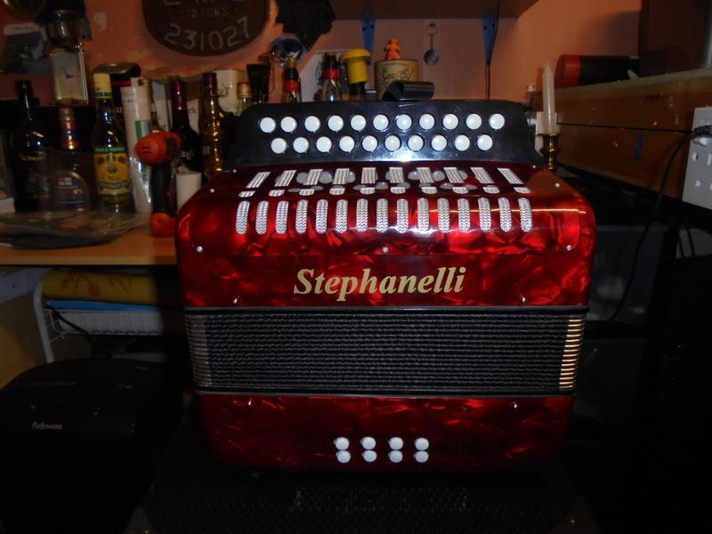 Stephanelli BC Button Accordion in Case