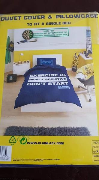 Plain Lazy New in package Single Bed Set