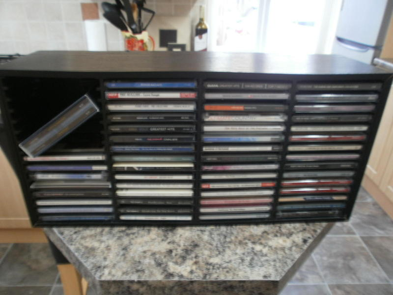 AUDIO CD'S AND CD CABINET