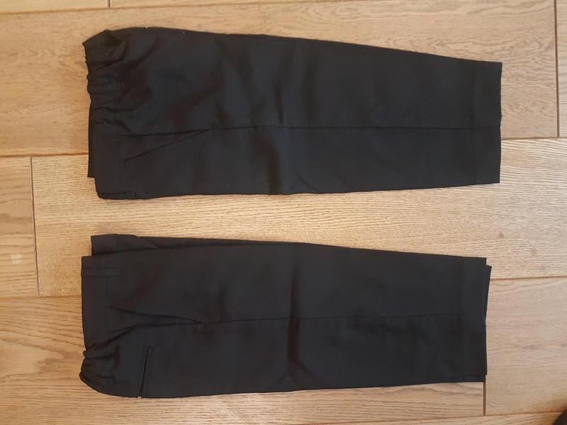 Boys 2 Pairs Black School/ Smart Trousers. Age 3 (98cm)