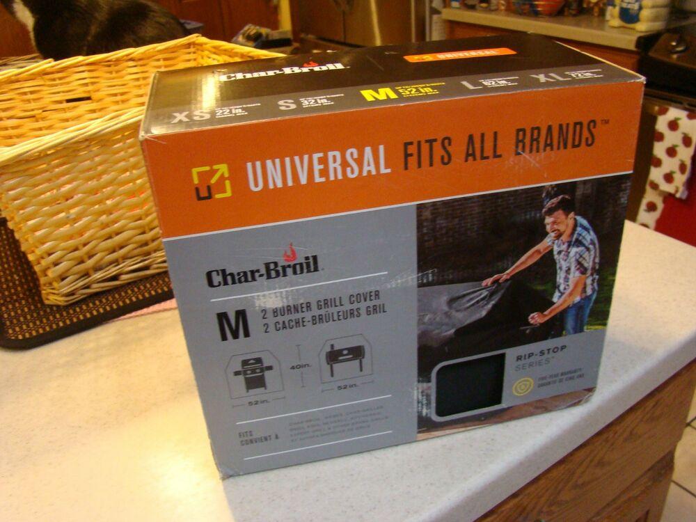 "Char-Broil Universal Grill Cover 2 Burner: Medium 52""x 40 """