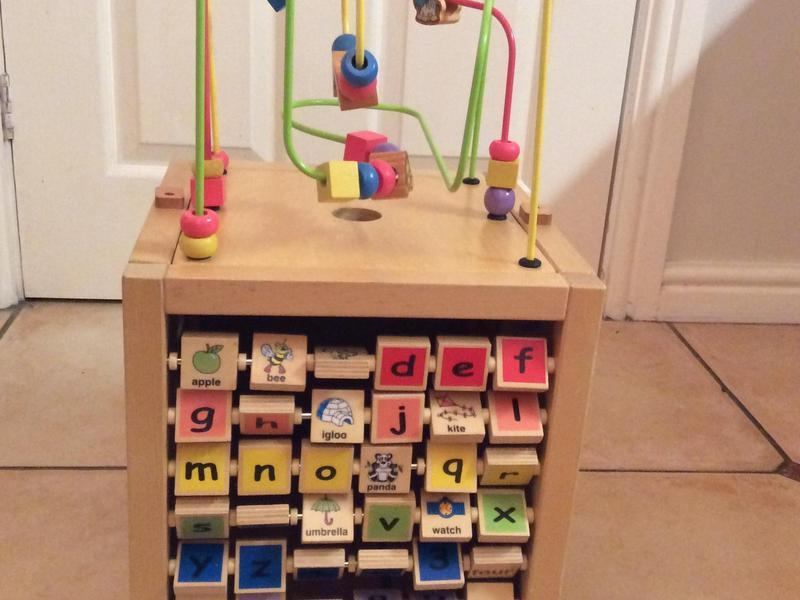 Mothercare Wooden Activity Cube - in excellent condition,