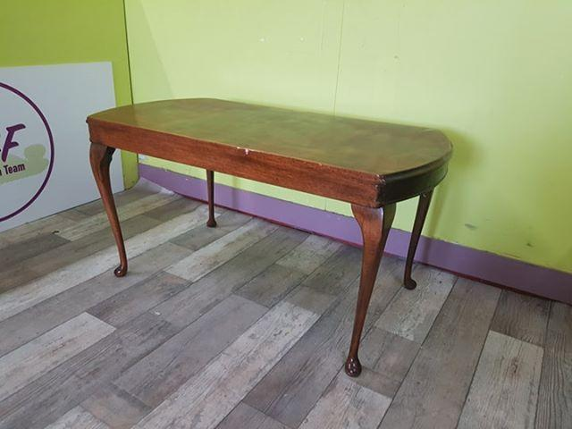 SALE NOW ON - Dark Wood Coffee Table With Queen Anne Style