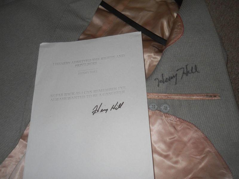 Henry Hill Goodfellas signed autograph personal owned and