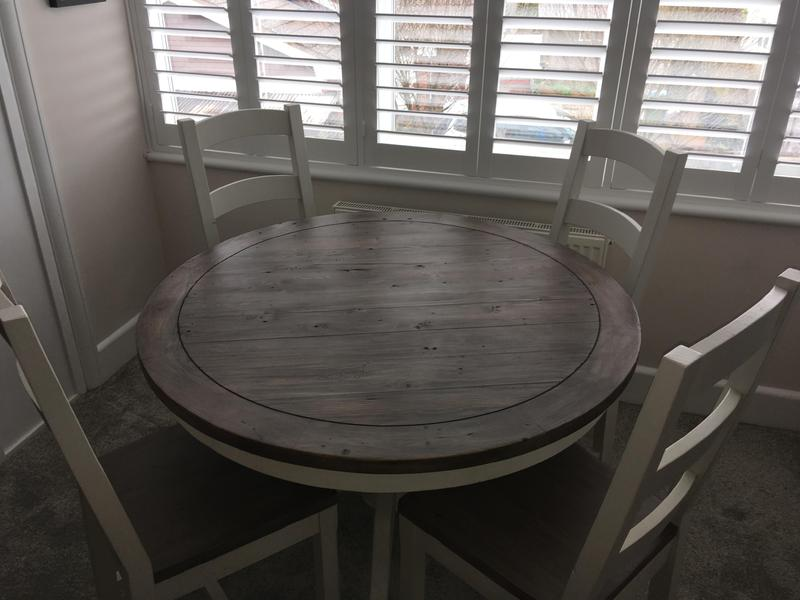 dining room table and 4 chairs. Open to an offer