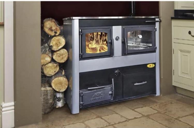 Central heating range cooker - solid fuel