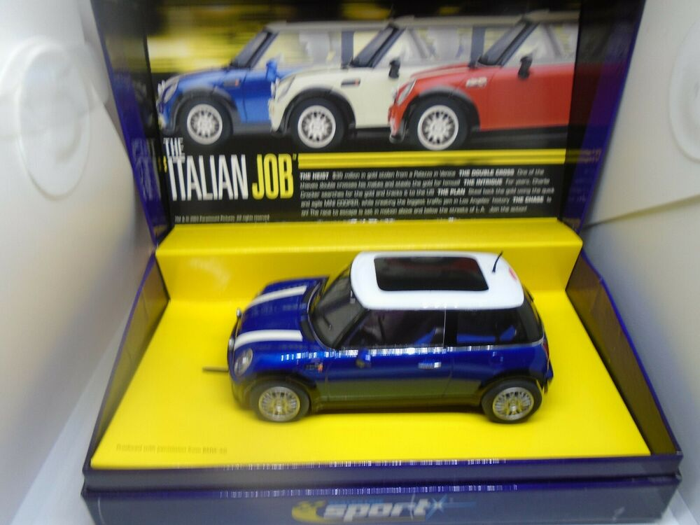 "Scalextric Ca Mini Cooper ""Italian Job"" blue BNIB"