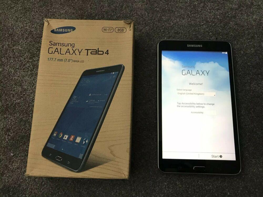 """Black Samsung Galaxy Tab 4 SM-TGB, Wi-Fi, 7"""" inch"""