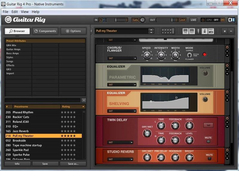 Gilmour/Pink Floyd Sound - Guitar Rig4 Pro edition