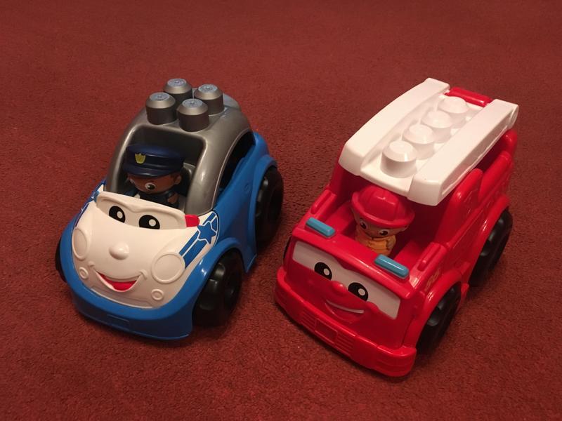 Mega Blocks Police Car and Fire Engine.