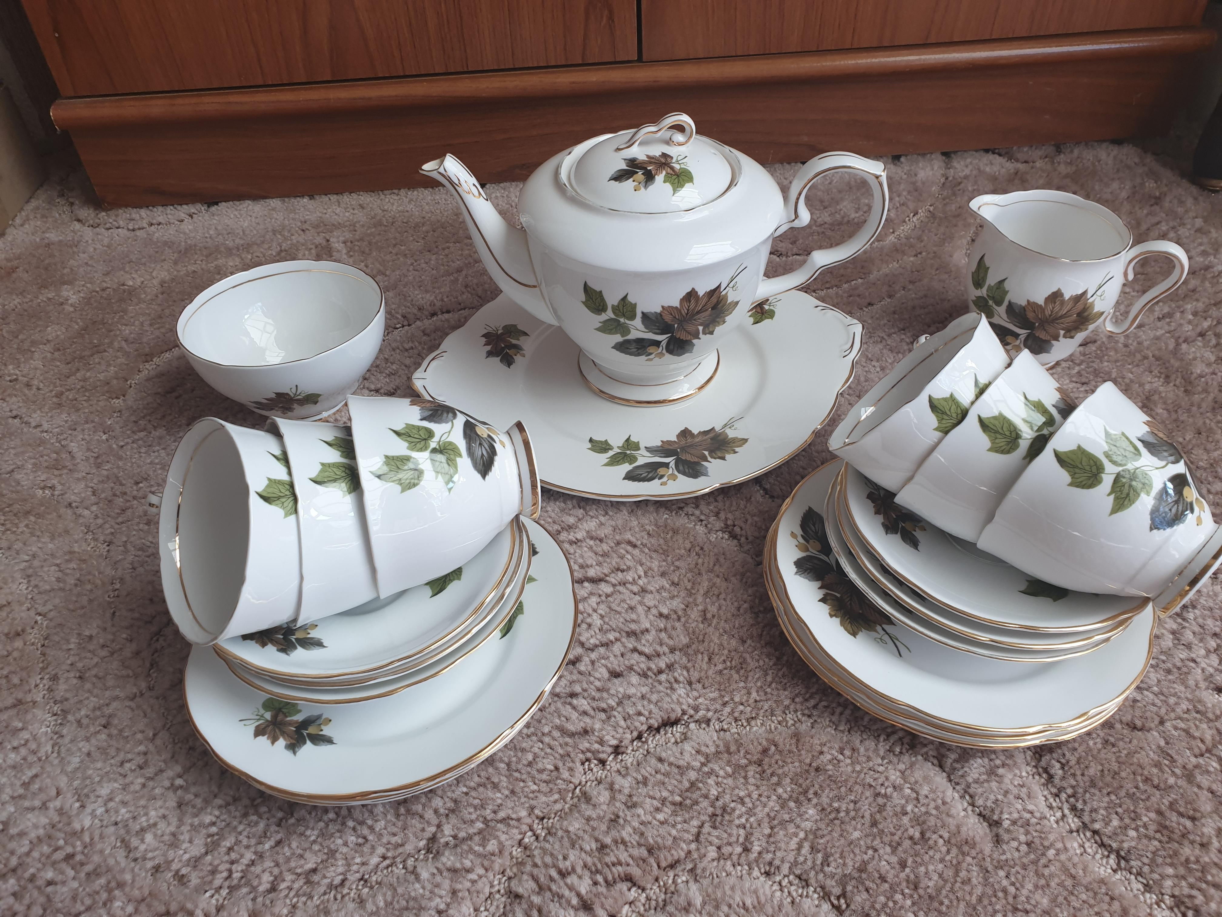 "Royal Stafford bone china ""Beechwood teaset"