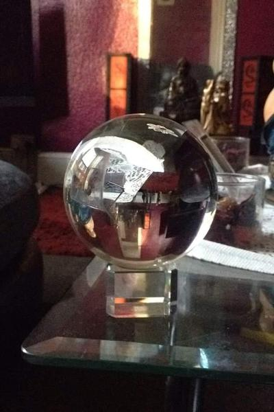 Lead Crystal Ball with stand