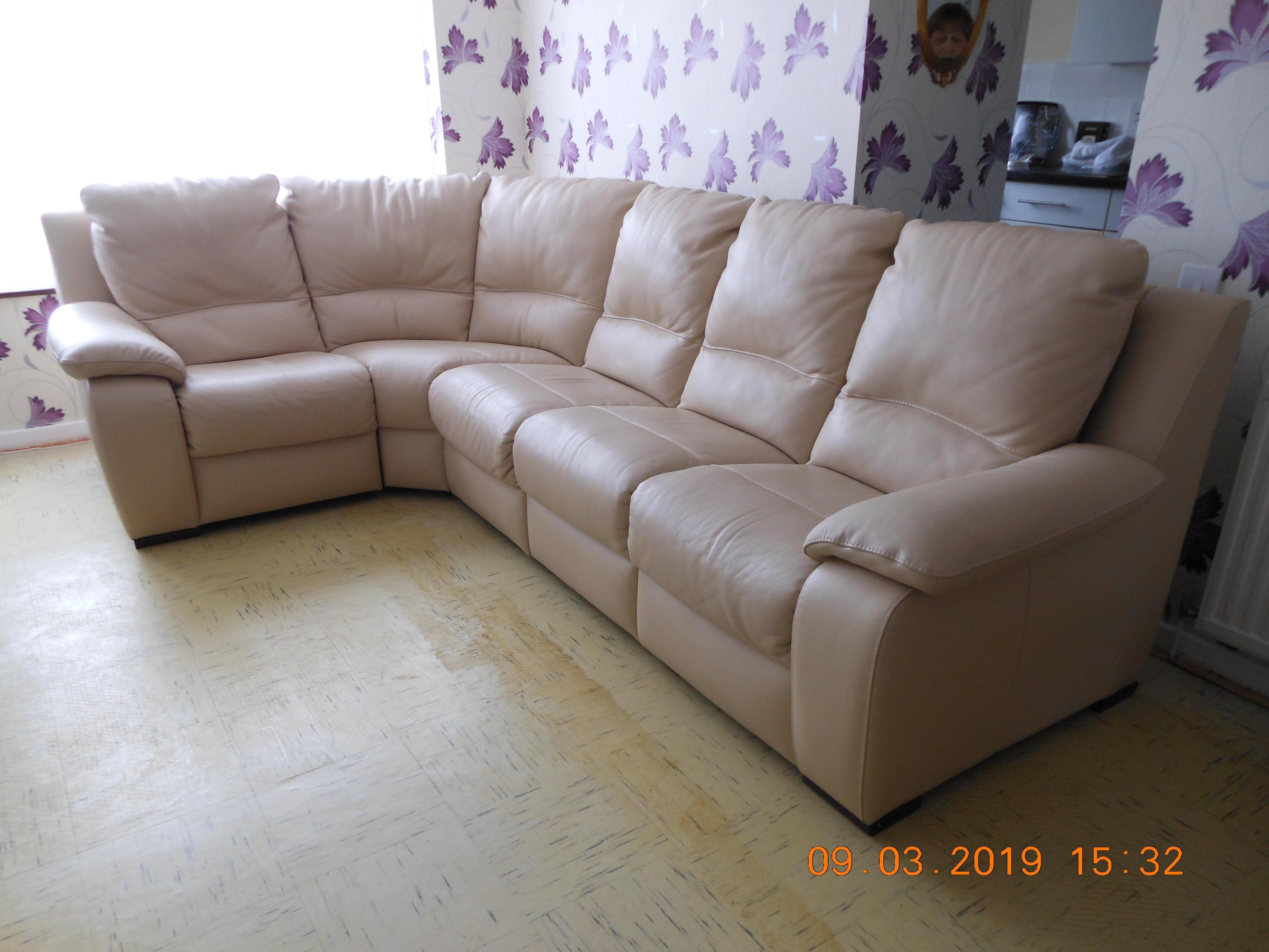 Corner Sofa Unit - All Leather - High quality, adaptable