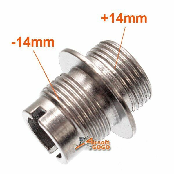 Stainless Steel Thread Adapter CW 14mm+ to CCW 14mm- for