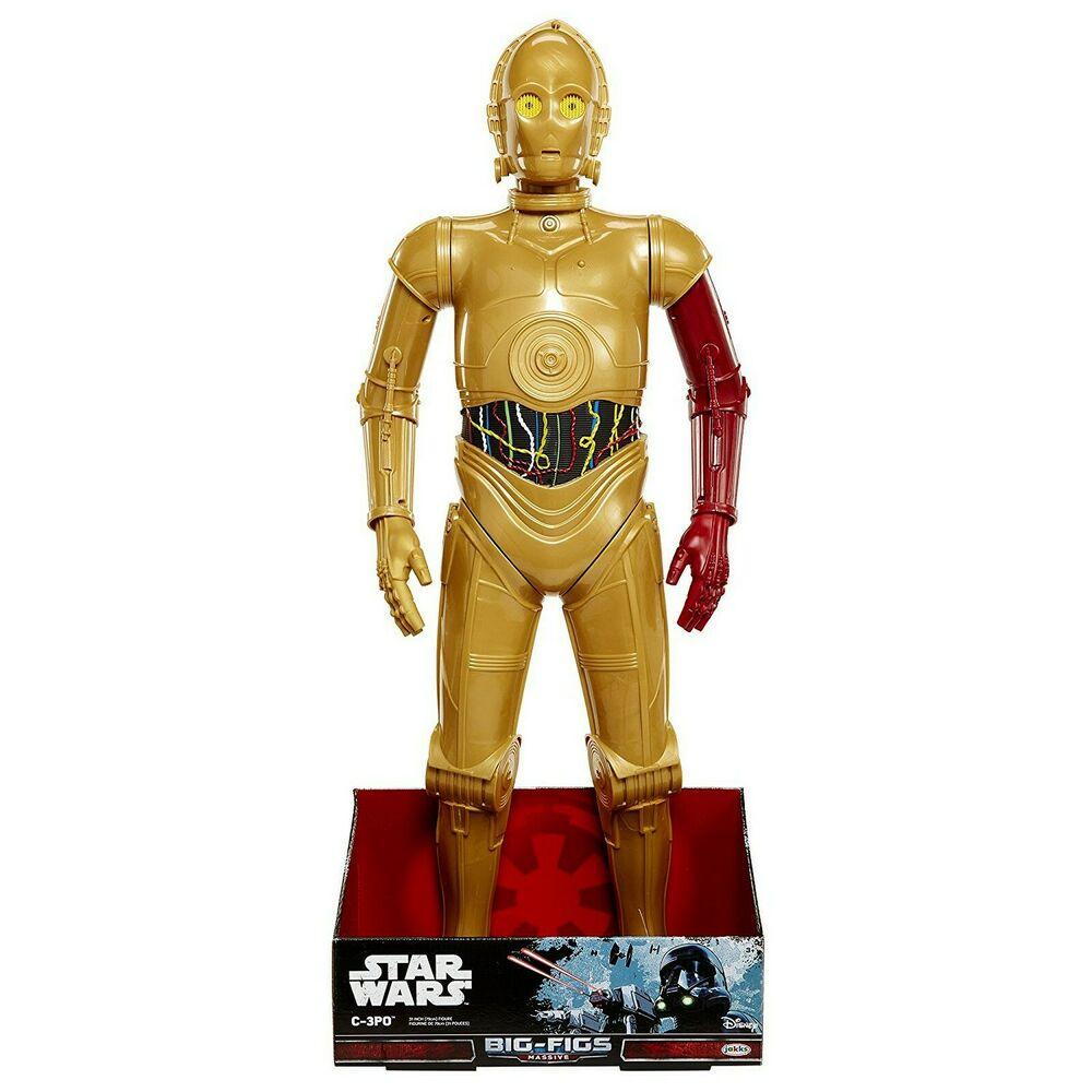 "Star Wars C3PO C-3PO RedArm JAKKS Big Fig Episode Rogue 31"""