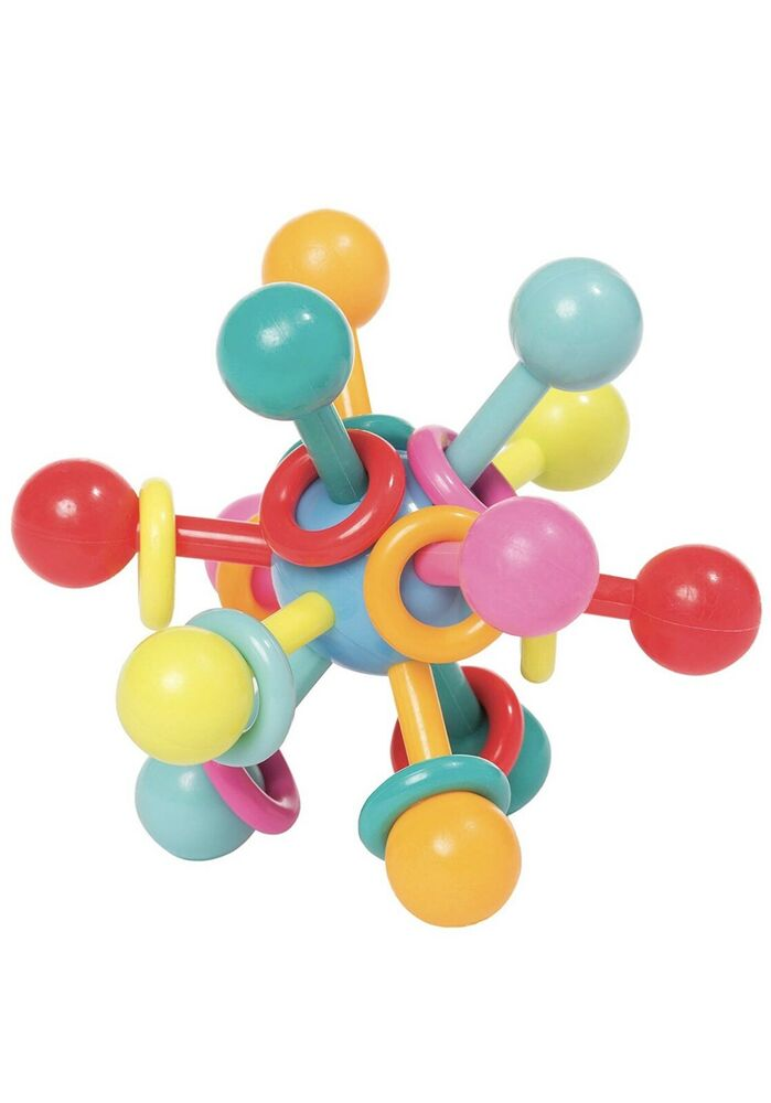 Manhattan Toy Atom Rattle & Teether Grasping Activity Baby