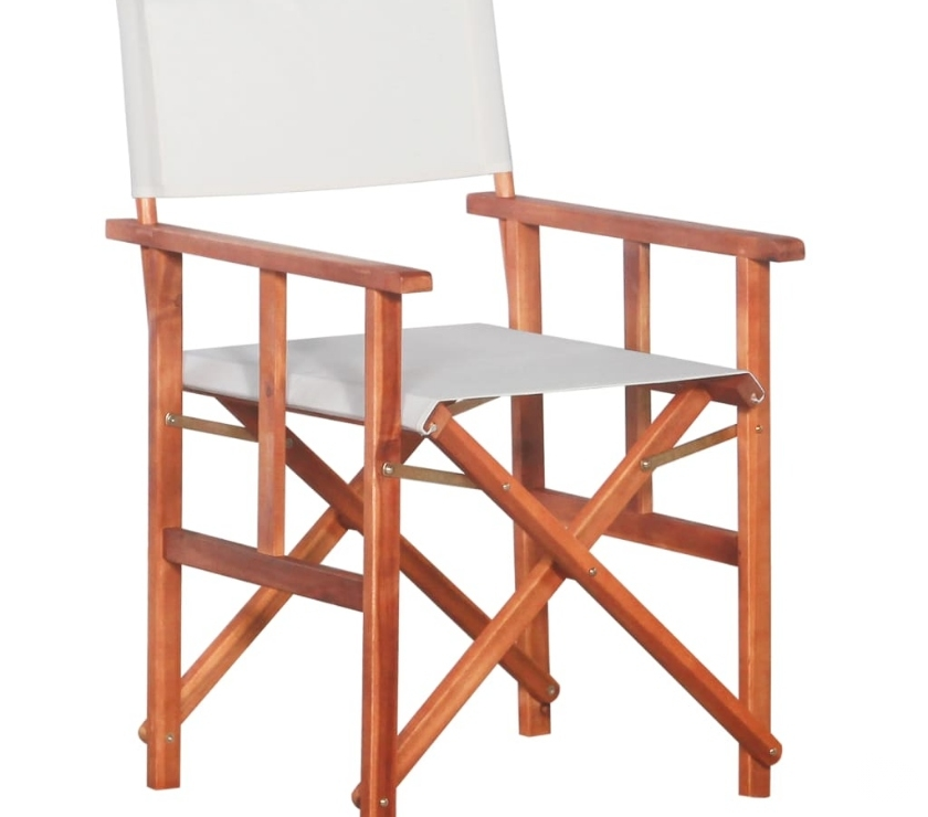 vidaXL Director's Chair Solid Acacia Wood  New