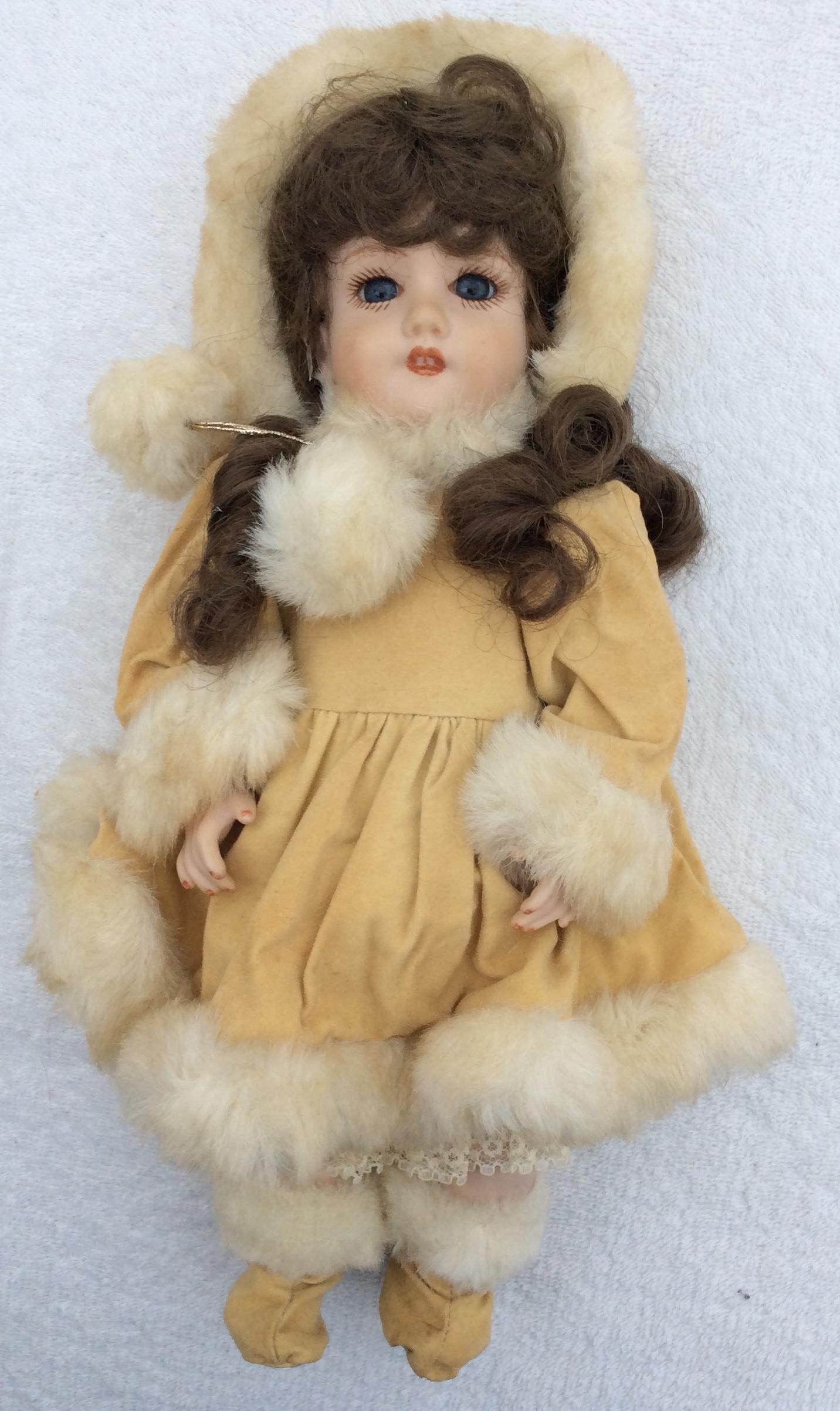 Vintage Collectable handmade porcelain doll 32cms