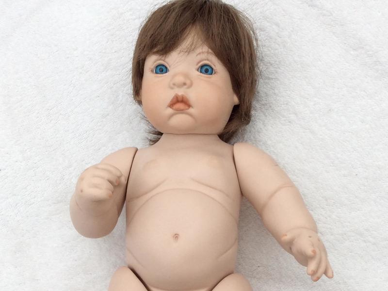 Vintage Collectable handmade porcelain doll 38cms