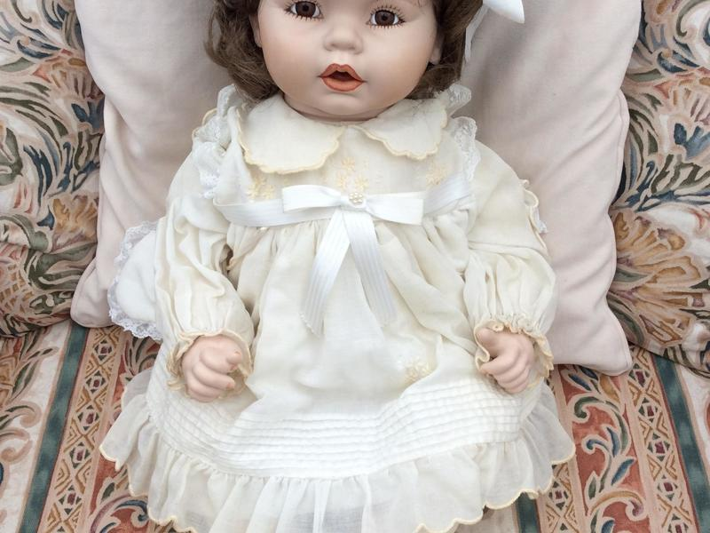 Vintage Collectable handmade porcelain doll 58cms